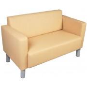Minit Cubo 2 kétszemélyes kanapé króm lábakkal