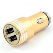 Зарядно устройство за кола DIVA, 2 x USB, Златисто, DUSB2MG