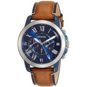 Fossil Grant Chronograph Blue Dial Mens Watch - FS5151