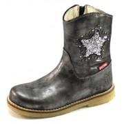 Shoesme crêpe laarsje ster Zilver xHO06
