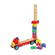 Counting Firemen - Wooden Toys - Brainsmith - Early Learning - Hand Eye coordination - Fine Motor Skill - Concentration buidling - Imagination - Counting Skills - Brain Development - Birthday gift - Return Favour - Play and Learn - Child safe toys - 3 yea