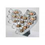 Expozitor in forma de inima, dimensiuni 300x140x260mm