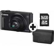 CANON Powershot SX610 HS + Travel Kit Zwart