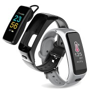 XANES BY21 0.96' TFT Color Touch Screen IP67 Waterproof Bluetooth Headset Smart Bracelet Heart Rate Blood Pressure Monitor Fitness Smart Watch