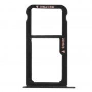 Avizar Bandeja de Substituição para Cartão Nano SIM Preta para Huawei P10 Lite