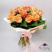 """Buchet 17 trandafiri """"Peach Roses"""""""