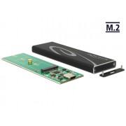 DeLock External Enclosure M.2 SSD 80 mm > SuperSpeed USB 10 Gbps (USB 3.1 Gen 2) USB Type-C female 42574