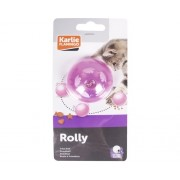 Jucarie pentru pisici Karlie, in forma de minge, 5,5 cm, culori asortate