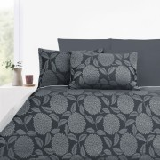 300TC Armure Grey Jacquard Quilt Cover Set by Accessorize