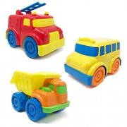 BOLEY Trucks and Cars Set for Toddlers - Educational Toddler Vehicle Playset with Dump Truck