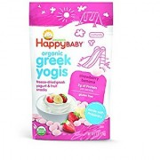Happy Baby Organic Greek Yogis Freeze-Dried Greek Yogurt and Fruit Snacks Strawberry/Banana 1 Ounce