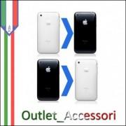 Sostituzione Riparazione Cambio COVER SCOCCA POSTERIORE + CORNICE E TASTI per Apple Iphone 3G 3GS