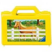 Дървен пъзел - Кубчета с животни във фермата - Ravensburger, 7007463