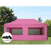 3x6m összecsukható pavilon ablakos Alutec Pink (Economy Alutec)