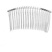 Tinksky 7.8cm 20 Teeth Fancy DIY Metal Wire Hair Clip Comb Bridal Wedding Veil Comb (Silver)
