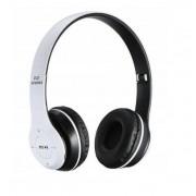Foldable P47 fehér - fekete sztereó összecsukható fejhallgató EDR technologiával, beepitett mikrofonnal, FM rádió, MicroSD foglalattal, Bluetooth 4.2
