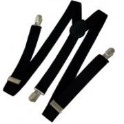 FashMade Y- Back Suspenders for Men, Women(Black)