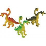 Assorted Color Two Headed Dragon And Snake Monster Action Figures (12)