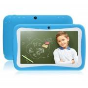 Tablet PC De 7 Pulgadas Para La Tableta Android RK3126 De Silicona Para Niños 512MB 8G Quad Core - Azul