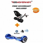 "FREE Hoverkart with 6.5"" Bluetooth Classic Midnight Blue Hoverboard-Special Bundle"
