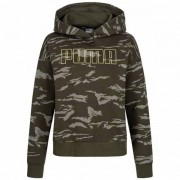 PUMA Camo Cropped Dames Hoody 855597-35 - groen - Size: Extra Small
