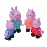 BIG figurine de jucărie familia Peppa Pig PlayBIG Bloxx 4 buc 57113