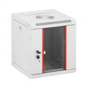 Serverová skříň - 10 palců - 6 HE - uzamykatelná - do 75 kg - šedá