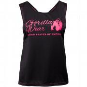 Gorilla Wear Odessa Cross Back Tank Top - Black/Pink - S