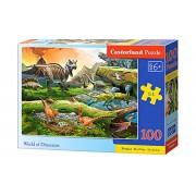 Puzzle Lumea Dinozaurilor, 100 piese