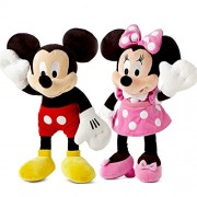 Large Size Disney Authentic High Quality Mickey & Minnie Mouse Combo Imported Stuffed Plush 48cm