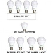 HFK PACK OF 8 HIGH QUALITY LED BULB WITH FREE ONE 3 WATT BULB WITH SIX MONTHS REPLACEMENT WARRANTY