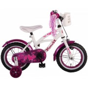 Bicicleta pentru copii 12 inch cu roti ajutatoare si frana de mana Volare Heart Cruiser 61209