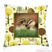 WILD ZONE Baby KISKACSÁK állatos díszpárna 28x28 cm