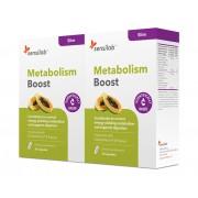 Sensilab Metabolism Boost Zweierpackung Stoffwechsel anregen Mit Braunen Algen in Granula und Papaya 2x 30 Kapseln für 2 Monate Sensilab