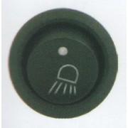 Comutator rotund Pornit/Oprit 12V cu dubla iluminare - Indicator Lampa laterala stanga LED si indicator functionare