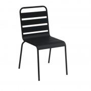 Resol - Conjunto de 4 cadeiras de alumínio pretas ALEGRIA - RESOL
