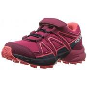SALOMON Speedcross Bungee K Zapatillas para Correr, Cereza/Blazer Marino/Dubarry, 18 MX Niño pequeño