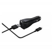 Samsung EP-LN915U autós töltő + microUSB kábel, 5V/2A, gyorstöltő, fekete