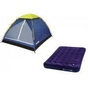 Barraca Iglu 3 Pessoas + Colchão de Casal Multiuso com Fole - Mor