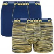 Puma 2PACK pánské boxerky Puma vícebarevné (591003001 960) XL