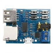 JIAIIO 1Pcs TF Card U Disk MP3 Format Decoder Board Module Amplifier Decoding Audio Player, MP3 Decoding Play Module
