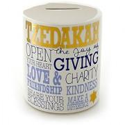 Enesco Our Name Is Mud Gold Tzedakah Judaica Bank 4