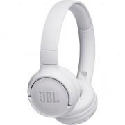 Casti audio On-ear JBL Tune 500, Wireless, Bluetooth, Pure Bass Sound, Hands-free Call, 16H, Alb