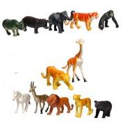 Munchkin Land Animal Kingdom Wild Animals Set Pack of 20 - Multi Color