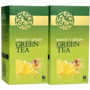 LaPlant Lemon and Ginger Green Tea - 50 Tea Bags (Pack of 2)
