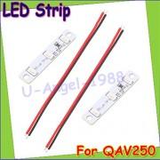 Generic White : Wholesale 2pcs/lot LED strips Light Board 3S for QAV250 ZMR250 Quadcopter FPV RC ( Blue red white for choose) Drop Freeship