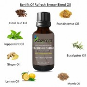 KAZIMA REFRESH ENERGY BLEND ESSENTIAL Oil (15 Ml) Pure Therapeutic Grade for Yoga & Balancing Energy