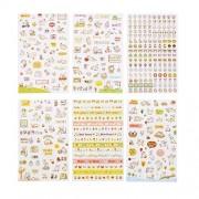 CCINEE cute seal notebook seal transparent sticker schedule book seal sticker seal sticker handmade diary diary calendar album for 6 pcs notebook