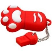 Pankreeti PKT887 Cat Claw Cartoon Designer 16 GB Pen Drive(Red)