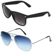 Zyaden Combo of Wayfarer Sunglasses Aviator Sunglasses (Combo-8)
